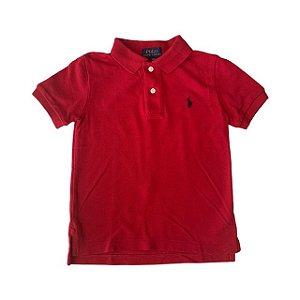 RALPH LAUREN camisa polo vermelha 3 anos