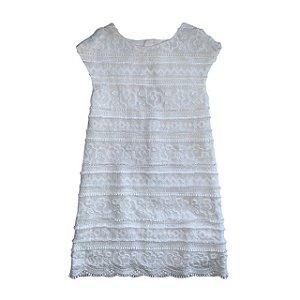 ZARA vestido branco bordado 9-10 anos