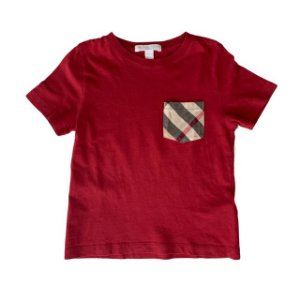 BURBERRY camiseta vermelha c bolso 4 anos