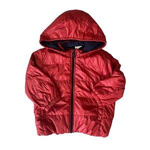 UNIQLO casaco nylon vermelho 2-3 anos