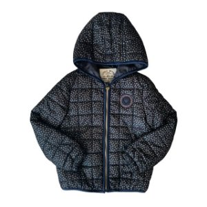 LOVELY BRAND casaco acolchoado marinho estrelinhas 8 anos (modelagem pequena)