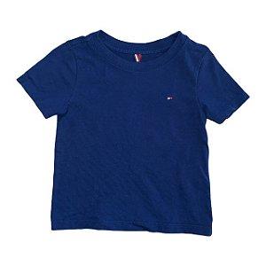 TOMMY HILFIGER camiseta lisa azul 12 meses