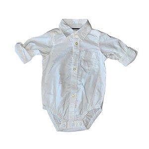 CARTERS pimpão camisa social branca 6 meses