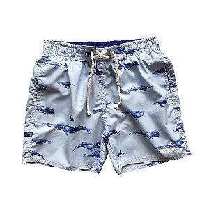 RICHARDS short praia azul baleia 8-9 anos