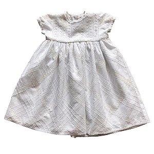 CECILIA vestido algodão branco rendado 3 anos