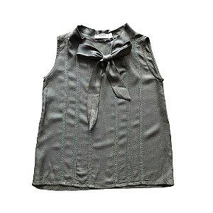 MIXED blusa sem manga viscose verde 6 anos