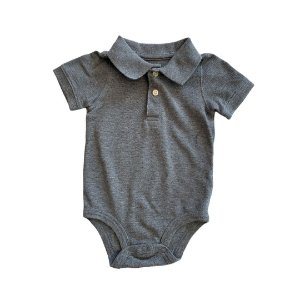 CARTERS body polo cinza 12 meses