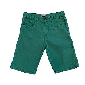 ZARA bermuda sarja verde 11-12 anos