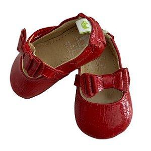 LE FANTYMY sapatinho boneca de verniz vermelho 0-3 meses