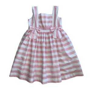 UPIA vestido listras rosa e branca 4 anos