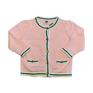 JANIE AND JACK casaco linha rosa det verde 18-24 meses