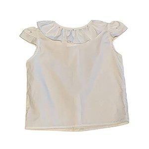 UPIÁ bata algodão branco det pérolas 1 ano