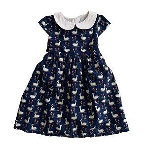 LÁ MONITA vestido azul Cisnes 2 anos