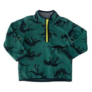 CARTERS casaco soft verde esqueleto dinossauro 2 anos