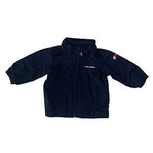 TOMMY HILFIGER casaco de nylon marinho c capuz 12 meses