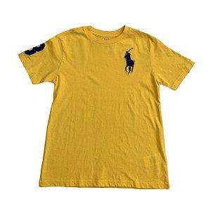 RALPH LAUREN camiseta lisa amarelo 8 anos