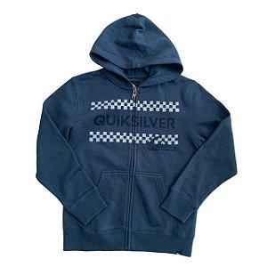 QUIKSILVER casaco moletom capuz azul 8 anos
