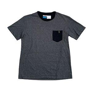 RESERVA MINI camiseta preta listras finas bolso preto 12 anos