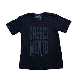 "RESERVA MINI camiseta preta ""em fase de crescimento"" 12 anos"