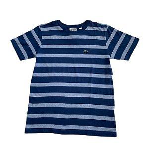 LACOSTE camiseta azul listras azul claro 14 anos