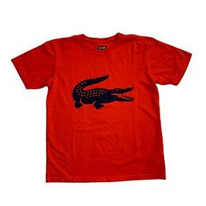 LACOSTE camiseta coral jacaré marinho 14 anos