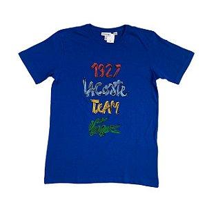 LACOSTE camiseta azul royal 1927 14 anos