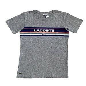 LACOSTE camiseta cinza estp Lacoste colorida 14 anos