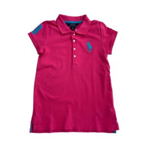 RALPH LAUREN camisa polo rosa pInk 6 anos
