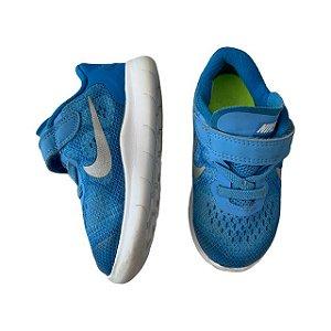 NIKE tênis azul claro velcro USA 7 BRA 22