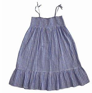 HM vestido lastex xadrez hortênsia 7-8 anos