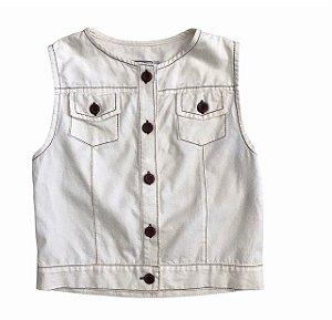 MIXED colete algodão offwhite 8 anos