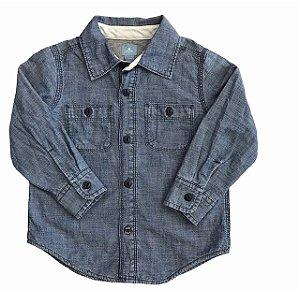 BABY GAP camisa jeans fininho com forro de malha 3 anos