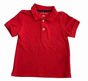 TOMMY HILFIGER camisa polo vermelha 3 anos