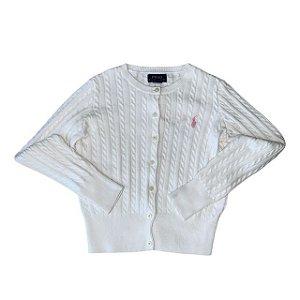 RALPH LAUREN casaco de linha branco 7 anos