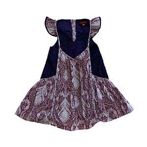 CATIMINI vestido estampas em roxo 4 anos