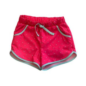 CAT & JACK short gym rosa pois verde 3 anos