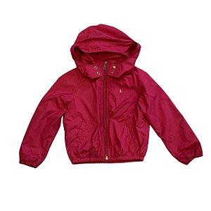 RALPH LAUREN casaco capuz nylon rosa 4 anos