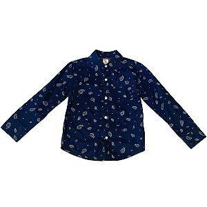 CARTERS camisa social azul marinho estp cachemire 4 anos
