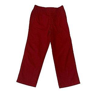 CARTERS calça sarja vermelho 4 anos