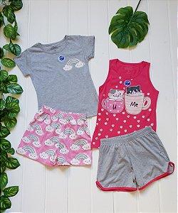 Pijama Juvenil Feminino- Combo 2 Unidades