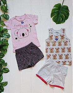 Pijama Infantil Feminino - Combo 2 unidades