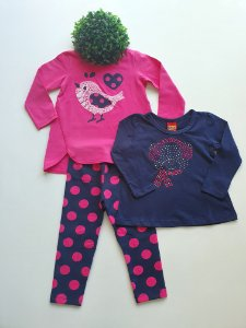 Combo 1 a 3 Feminino Conjunto Longo + Blusa