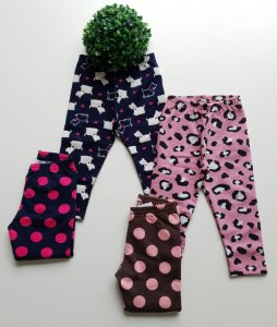 Combo 2 Leggings 1 a 3 Feminina Estampadas