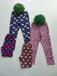Combo 2 Leggings 4 a 8 Femininas Estampadas