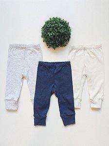 Combo 3 Culotes Bebê Lisos