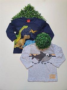 Combo 2 Camisetas 1 a 3 Masculinas Manga Longa - Kyly