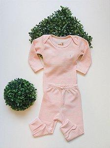 Conjunto Bebê Listas Body + Culote