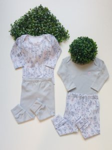 Combo 4 Peças Bebê Feminino Floral