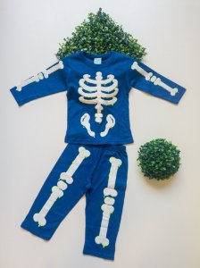 Pijama  Esqueleto 1 a 3 Masc Longo - Kyly