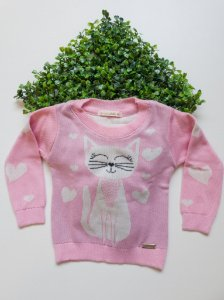 Blusão Bebê Feminino Tricô